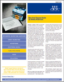 Case history for an award-winning public relations campaign written by Kathleen Hanover