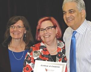 Kathy Tagenel, Kathleen Hanover and Bob Burg