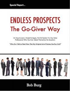 Endless Prospects the Go-Giver Way by Bob Burg
