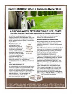 1-Page Lawncare Case History - Writing & Layout | Kathleen Hanover